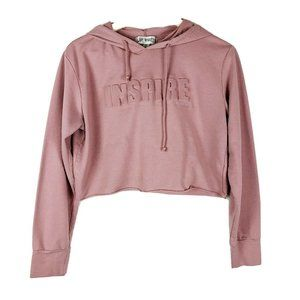 Say What Light Pink Cropped Inspire Hoodie